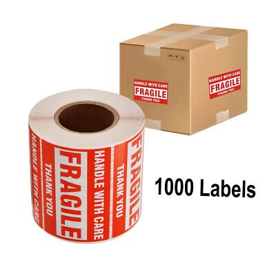 2 Rolls 2x3 Fragile Stickers Handle With Care Thank You Mailing Labels 500roll