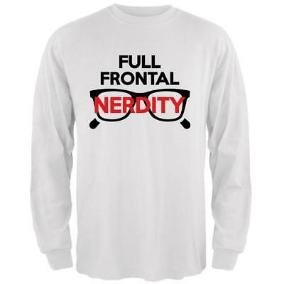 Halloween Nerd Costume Full Frontal Nudity Nerdity Pun Mens Long Sleeve T Shirt](Halloween Pun Costume)
