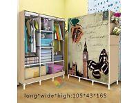 Triple Canvas Folding Wardrobe Cupboard new boxed