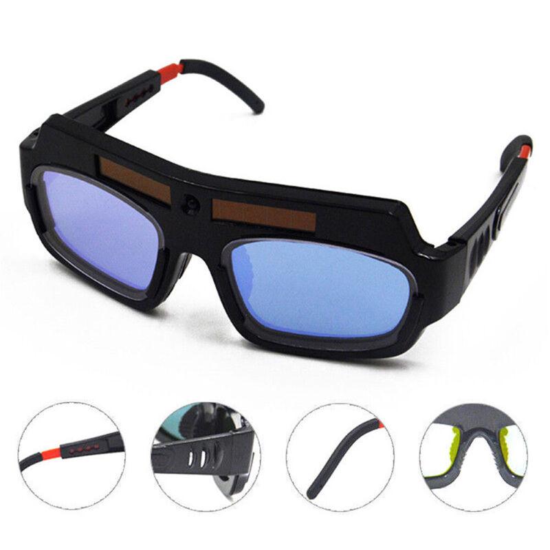 Solar Powered Auto Darkening Welder Glasses Welding Safety Goggle Eye Protector