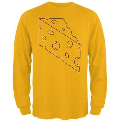 Halloween Swiss Cheese Food Costume Mens Long Sleeve T Shirt