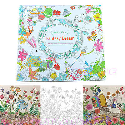 New Novelty Unisex Child Adult Fantasy Dream In Art Therapy Colouring Books