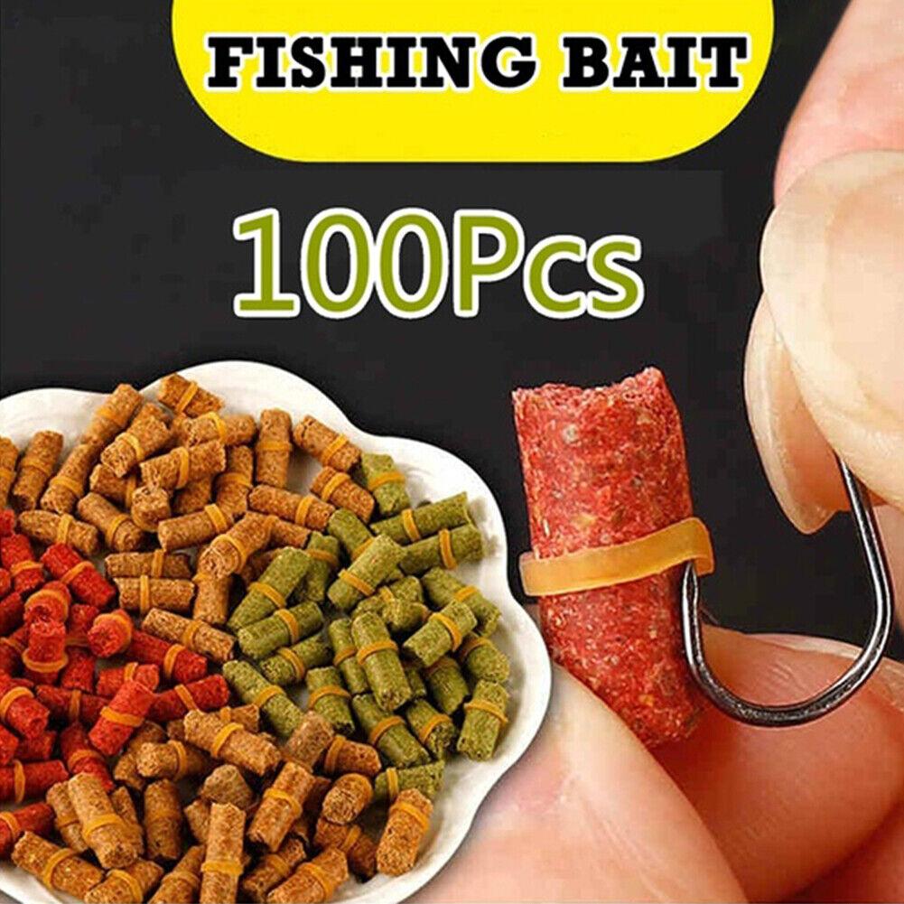 100pcs Fishing Baits Granular Smell Grass Carp Crucian Baits Lures Fishing Acc