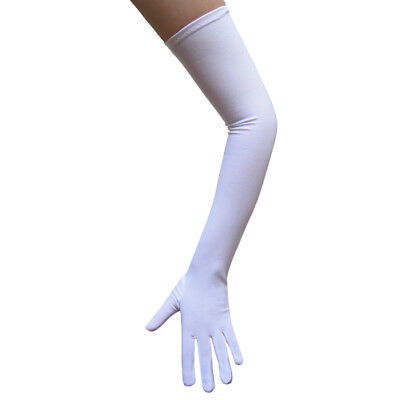 Long Opera Length White Costume Gloves ~ HALLOWEEN WEDDING PROM DANCE PARTY