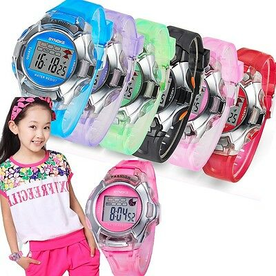 Waterproof Multifunction Sport Electronic Digital Watch For Child Boy Girl US