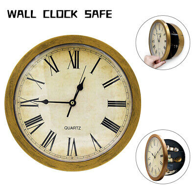 Clock Safe Hidden Wall Secret Jewelry Security Money Cash Compartment Stash Box