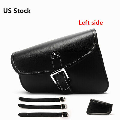 Left Side Solo Saddlebag Saddle Tool Bag For Harley Sportster XL 883 PU Leather Left Side Saddlebag