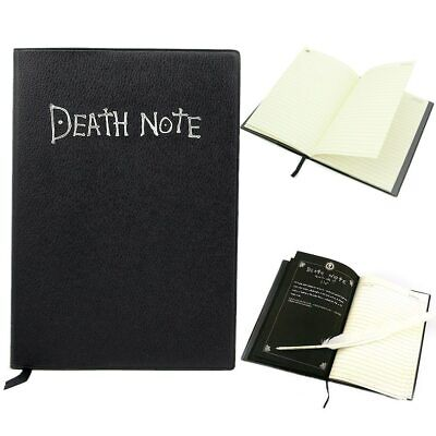 Notebook Feather Pen Writing Journal Anime Theme Cosplay Book Death Note