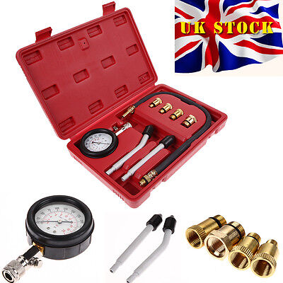 Automotive Petrol Engine Compression Tester Test Kit Gauge Car Motorcycle Tool