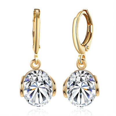 3/4 CARAT TW EACH SPARKLING ROUND CUT CZ SOLITAIRE HALO LEVERBACK EARRINGS Each Round Leverback Earrings