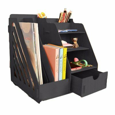 Minedecor Wood Desk Organizer Drawer Trays Office Desktop Organizers File