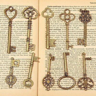 Heart Lock Key - 20 Antique Vintage Old Look Skeleton Key Set Lot Pendant Heart Bow Lock Steampun