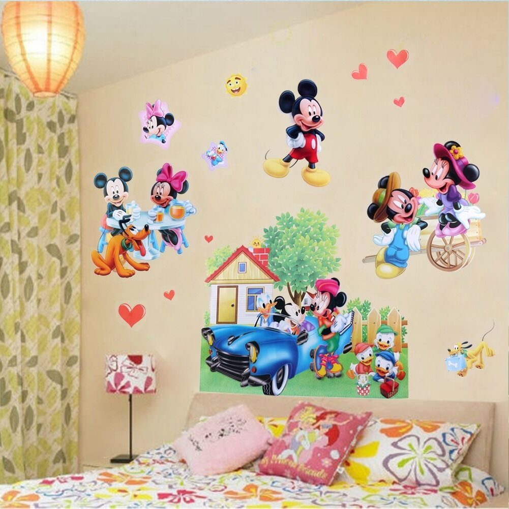 mickey mouse minnie mouse removable wall sticker vinyl art d