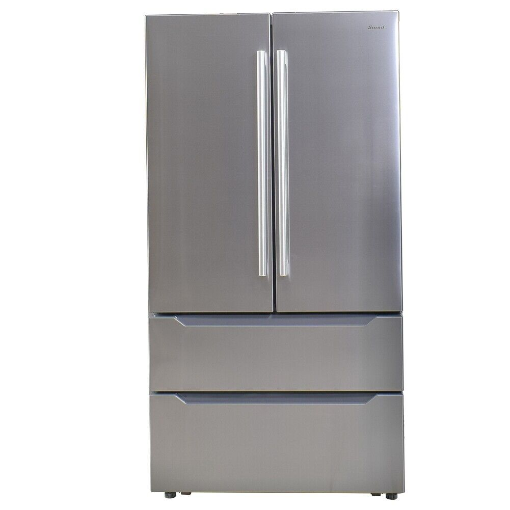 SMAD 22.5 Cu French 4 Door Refrigerator Counter Depth Stainl