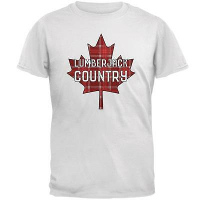 Canada Day Lumberjack Country Plaid Mens T Shirt