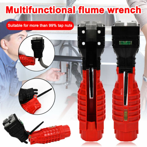 Multifunction Faucet and Sink Installer Wrench Plumbing Tool Water Pipe Spanner✔