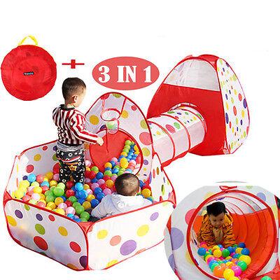 + Bällebad mit Basketball Box Spielzelt Krabbeltunnel SHOP 9 (Spiel Zelt Mit Tunnel)