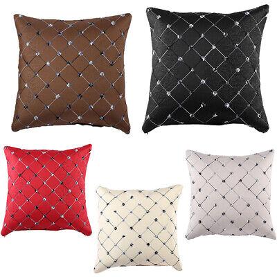 Home Sofa Cotton Bed Decor Lattice-Throw Pillow Case Square Waist Cushion Covers