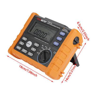 Peakmeter Pm2302 Lcd Digital Resistance Tester Megohmmeter 0 Ohm 4k Ohm