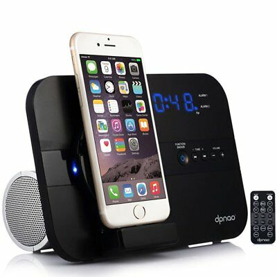 Apple iPhone X/8/+/7+ Speaker Docking Station w/ Bluetooth FM Radio Alarm Clock