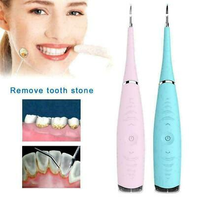 Ultrasonic Scaler Electric Tooth Cleaner Dental Calculus Stain Remover Tool Blue