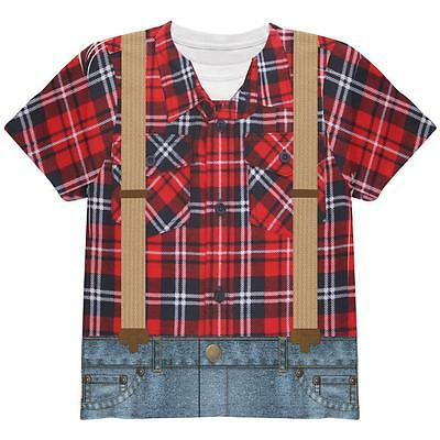 Halloween Lumberjack Costume All Over Youth T Shirt - Lumberjack Halloween Costume