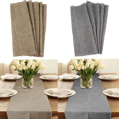 Rustic Jute Burlap Table Runner Imitated Linen Table Cloth Home Wedding Decor