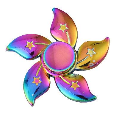 Metal Fidget Spinner Rainbow Bauhinia Flower Star Fidget Spinner Stress Toy Gift