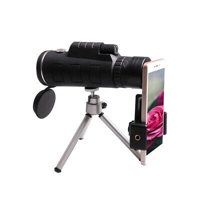 50X60 Zoom HD Lens Monocular Telescope Day/Night Vision+ Clip+Tripod+Compass UK