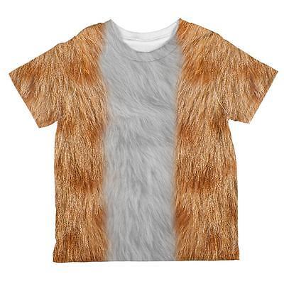 Halloween Orange Cat Costume All Over Toddler T Shirt