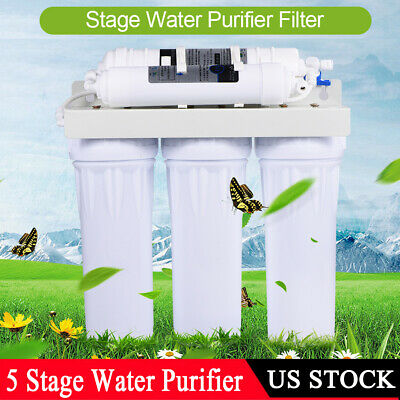 5 Stage Home Drinking Water Filter Purifier Ultra-filtration Fiber System US