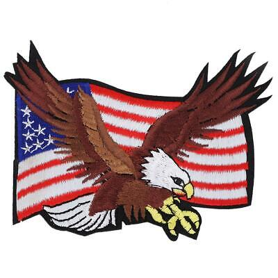 Eagle Flag Embroidery (Embroidery Eagle Flag Sew On Patch Badge Embroidered Fabric Applique)