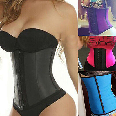 Sport Latex Rubber Waist Trainer Cincher Underbust Corset Body Shaper Shapewear