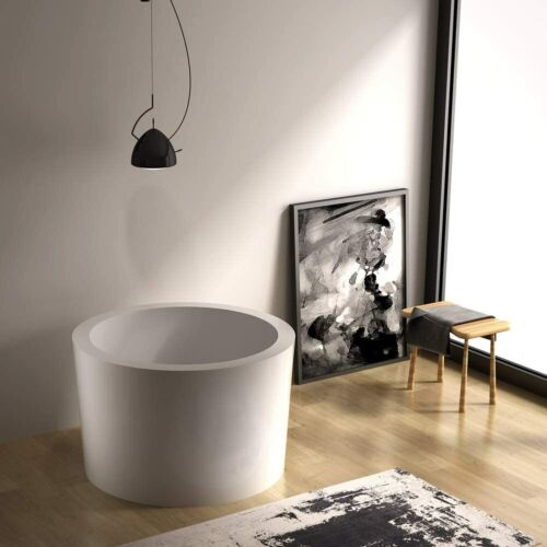 "HEATGENE 41"" Acrylic Freestanding Bathtub Soaking Tub UPC Certified Easy to Use"