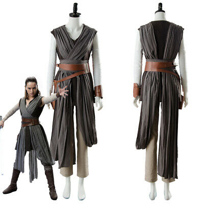Star Wars 8 The Last Jedi Rey Outfit Ver.2 Cosplay Kostüm (Rey Star Wars Cosplay Kostüm)