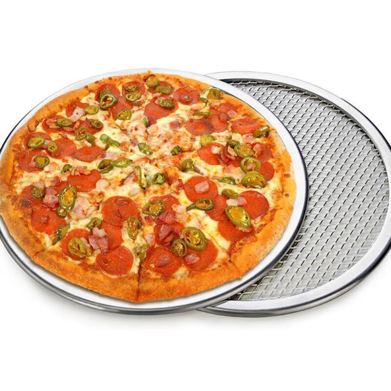 6''- 21'' Aluminium Alloy Mesh Pizza Screen Baking Tray Bake