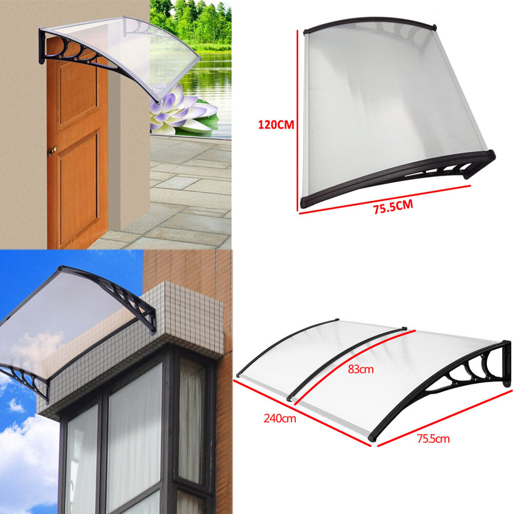 Door Canopy Awning Shelter Front Back Porch Outdoor Sun ...