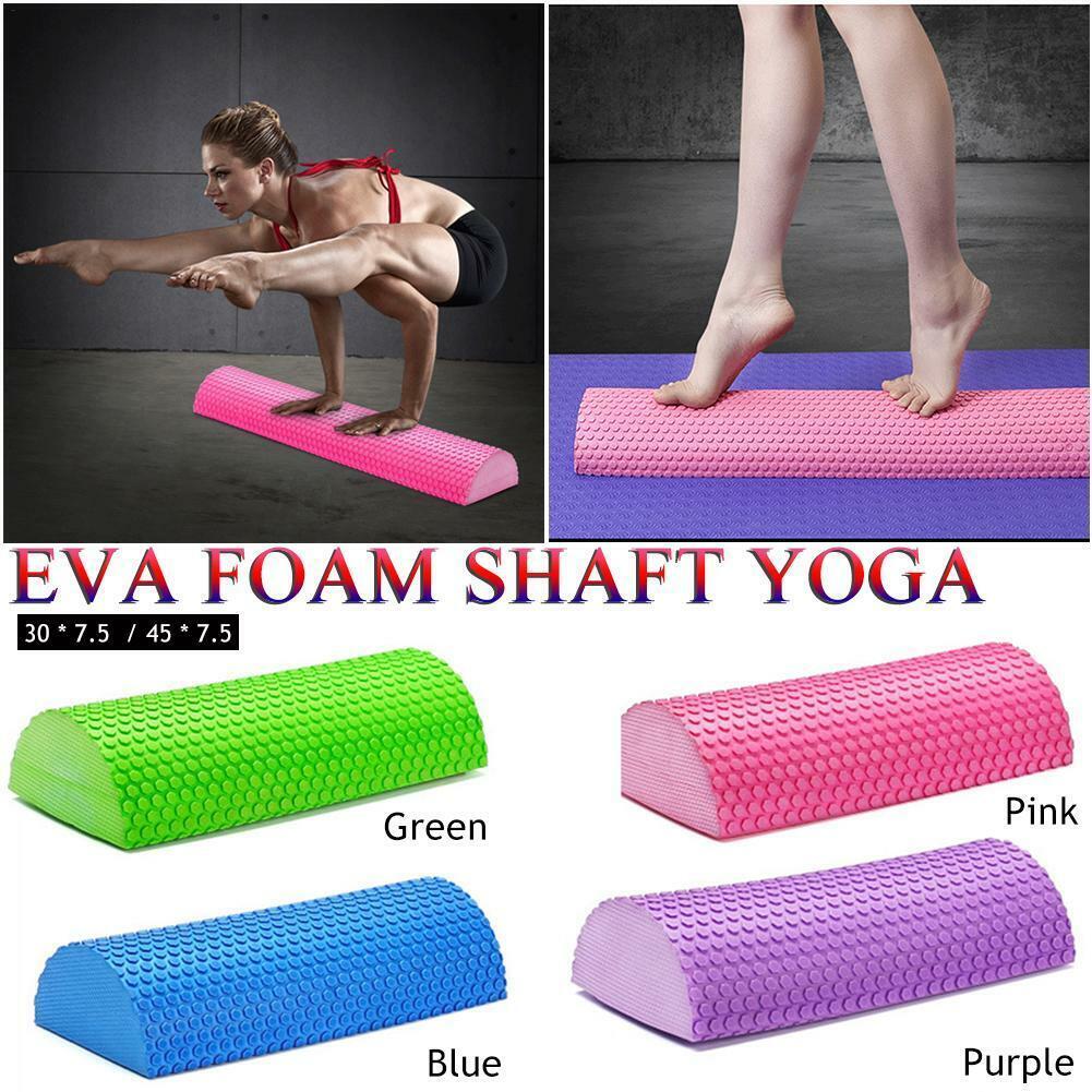30//45//60cm EVA Foam Yoga Exercise Half-Round Roller Floating Trigger Point