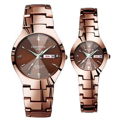 Men Women Quartz Analog Digital Waterproof Watch Stainless Steel Date Wristwatch (Womens Quartz Analog Watch)