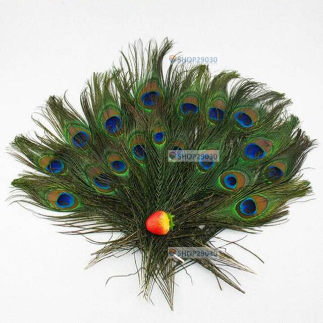 30pcs lots Real Natural Peacock Tail Eyes Feathers 8-12 Inches /about 23-30cm BT
