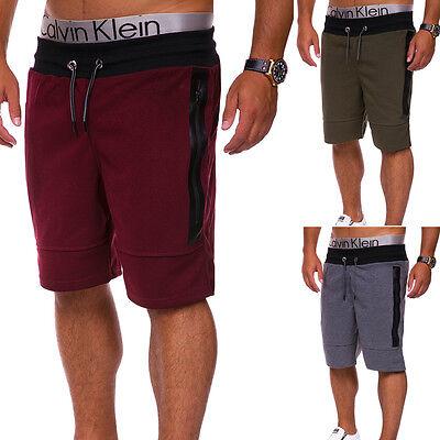 Herren Shorts Jogginghose Trainingshose Kurze Capri Hose Sweat-Bermuda NEU Training Capri-hosen