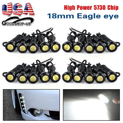 20x White Eagle Eye 9W 18mm Motor Car Tail Brake LED Fog DRL -