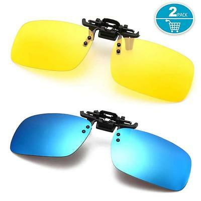 Polarized Clip-on Sunglasses Anti-Glare Driving Glasses for (Sunglass Clip Ons For Prescription Glasses)