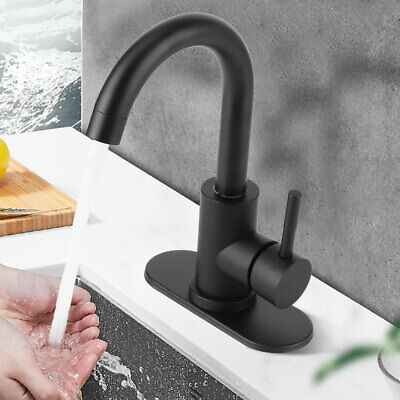 Hot and Cold Bathroom Sink Faucet 304 Stainless Steel Vanity Sink Faucet