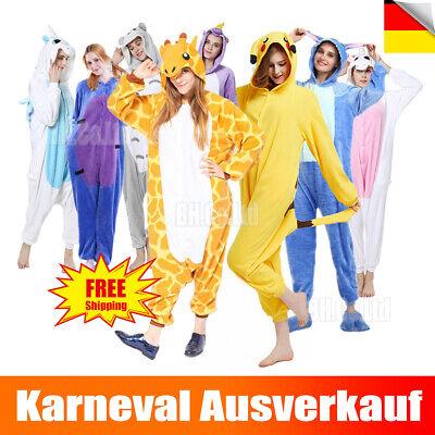 Unisex Erwachsene Kigurumi Kostüm Cosplay Tier Pyjamas Nachtwäsche Karneval