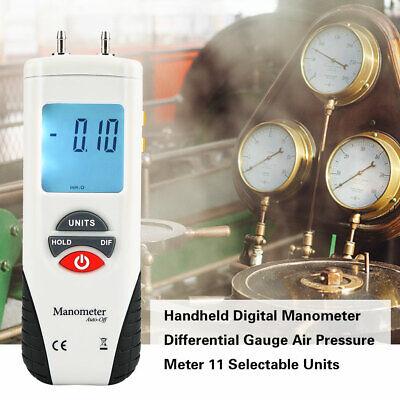 Ht-1890 Handheld Digital Manometer Differential Gauge Air Pressure Meter