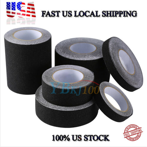BLK HIGH GRIP ANTI SLIP TAPE ADHESIVE BACKED NON SKIP TAPE F