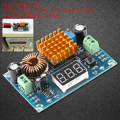 Dc-dc Digital Boost Step Up Converter Power Supply Module 3-35v To 5v-45v 5a Coi