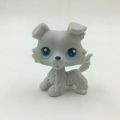 LPS Littlest Pet Shop 363 Toys Gray Collie Dog Puppy Rare Hasbro Kids Girl  Gift
