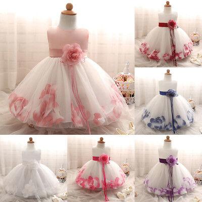 Babykleid Taufkleid Kinder Partykleid Blumenmädchen Tüll Festkleid Abendkleider